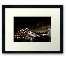Opera House At Night Framed Print