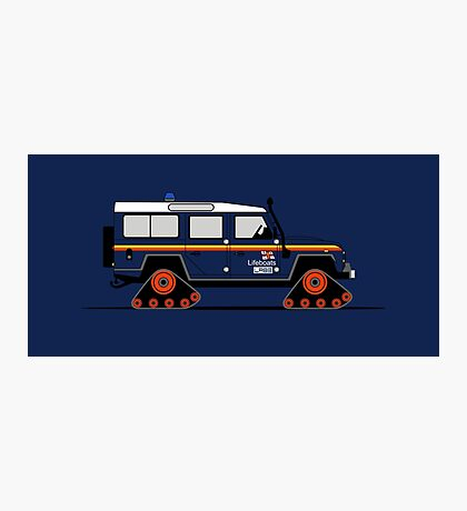 A Graphical Interpretation of the Land Rover Defender 110 Station Wagon Lifeboat Photographic Print