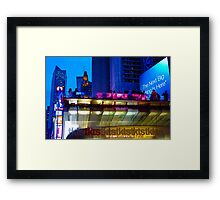 Broadway Tickets  Framed Print