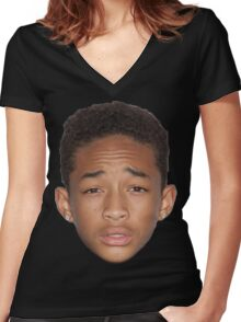 How Can Mirrors Be Real If Our Eyes Aren't Real. Women's Fitted V-Neck T-Shirt