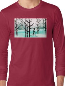 SKI in PARADISE.....! Long Sleeve T-Shirt