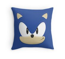 Sonic the hedgehog face Throw Pillow