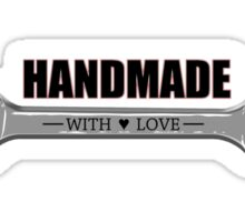 Handmade... with love Sticker