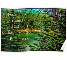 Romans 3:23 Poster
