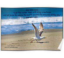 Bible Verse Genesis 1:20 Poster