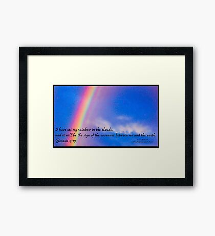 Bible Verse Genesis 9:13 Framed Print