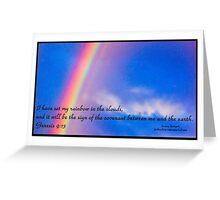 Bible Verse Genesis 9:13 Greeting Card