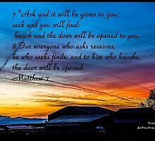 Bible Verse Matthew 7:7-8 by DianaBozart
