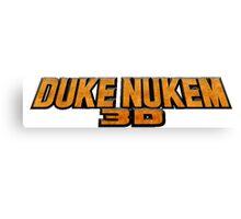 Duke Nukem 3D Logo Canvas Print