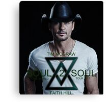 TIM MCGRAW solo poster SOUL 2 SOUL 2017 feat FAITH HILL Canvas Print