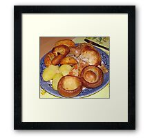Roast Chicken Dinner with Yorkshire Puddings Framed Print