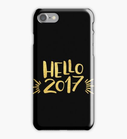 Cute Hello 2017 Happy New Year iPhone Case/Skin