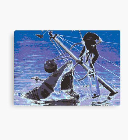 Jaws film still edit Canvas Print