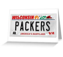 License Plate - PACKERS Greeting Card