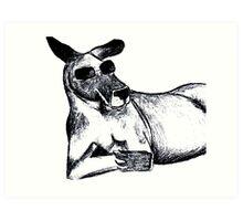 Cool Kangaroo Art Print