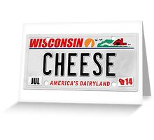 License Plate - CHEESE  Greeting Card