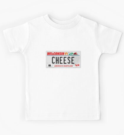 License Plate - CHEESE  Kids Tee