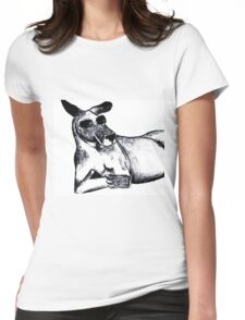 Cool Kangaroo Womens Fitted T-Shirt