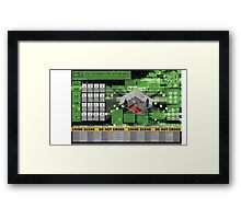 CSI: The Ultimate Fan Infographic Framed Print