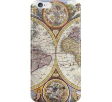 Antique Map of the World & Heavens iPhone Case/Skin