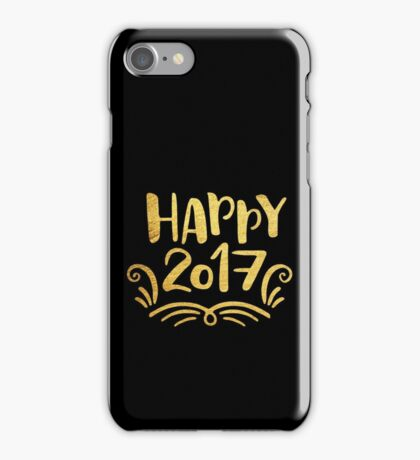 Cute Happy 2017 New Year iPhone Case/Skin