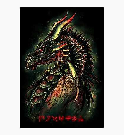 Dragonborn (Green Version) Photographic Print