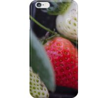 ripe strawberries iPhone Case/Skin