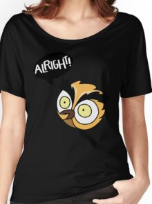 Alirght Owl Women's Relaxed Fit T-Shirt
