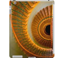 Golden spiral staircase iPad Case/Skin