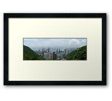 Hong Kong Panorama Framed Print