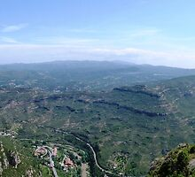 A View from Montserrat, Spain. by Trish Meyer
