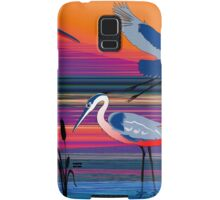 3 Red Herons Samsung Galaxy Case/Skin