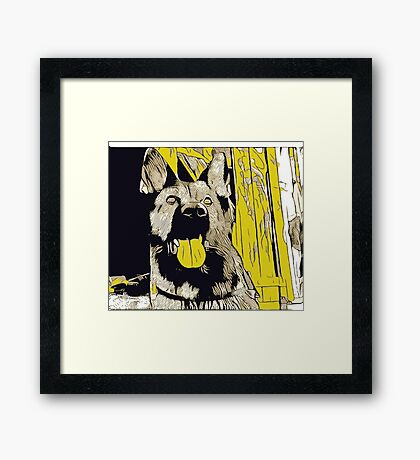 German Shepherd Framed Print