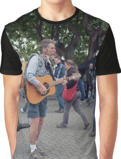 Multitasking Busker, Salamanca  Graphic T-Shirt