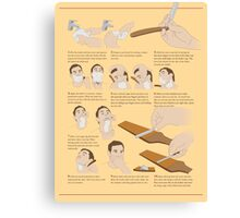 How to Shave Canvas Print