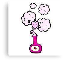 cartoon love potion Canvas Print