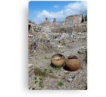 Almost intact among the ruins. Canvas Print