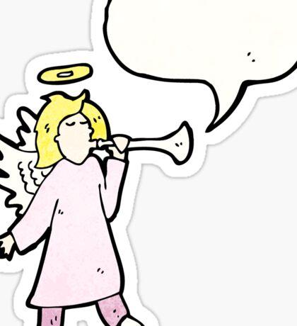 cartoon angel with speech bubble Sticker