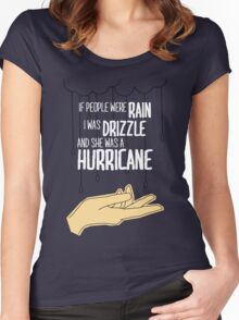 She Was A Hurricane Women's Fitted Scoop T-Shirt