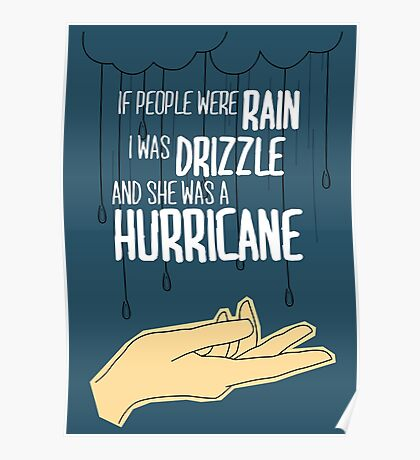 She Was A Hurricane Poster