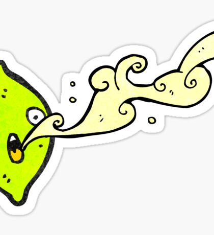 cartoon lime squirting juice Sticker
