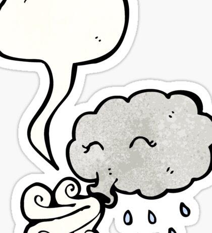cartoon cloud with speech bubble Sticker