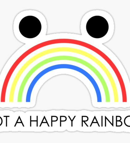 Not A Happy Rainbow Black Sticker