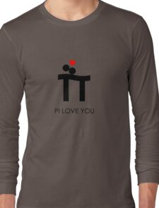 Pi Love You Black Long Sleeve T-Shirt
