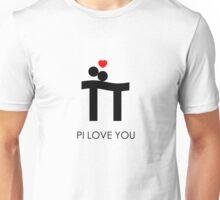 Pi Love You Black Unisex T-Shirt