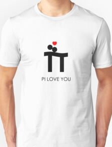 Pi Love You Black T-Shirt