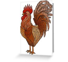 Graphic rooster  Greeting Card