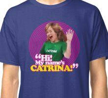 Hi! My name's Catrina - Pink Windmill Kids Classic T-Shirt