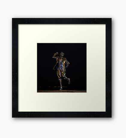 Eric Morecambe statue by night Framed Print