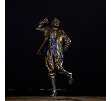 Eric Morecambe statue by night Photographic Print